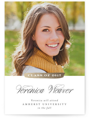 Stroke of Genius Graduation Announcements