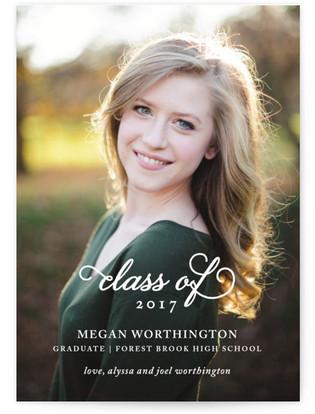 Classy Script Graduation Announcements