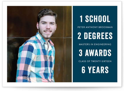 Just the Facts Graduation Announcements