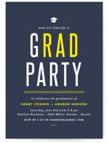 gRAD party Graduation Announcements