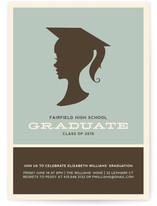Graduate Silhouette Graduation Announcements