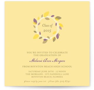 Autumn Wreath Graduation Announcements