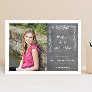 Chalkboard Graduation Announcements
