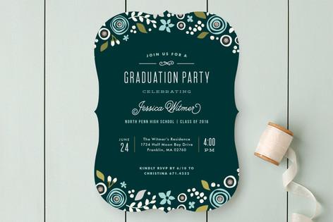 Floral Invite Graduation Announcements