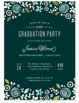 Floral Invite Graduation Announcements