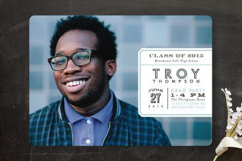 Side Label Graduation Announcements
