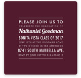The Square Types Graduation Announcements
