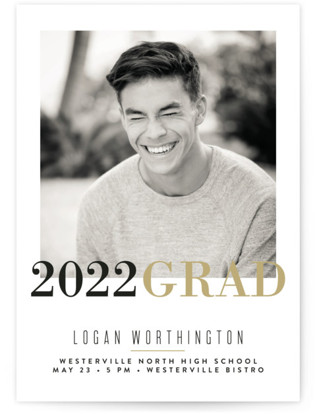 Modern Snapshot Graduation Announcements