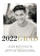Modern Snapshot Graduation Announcements