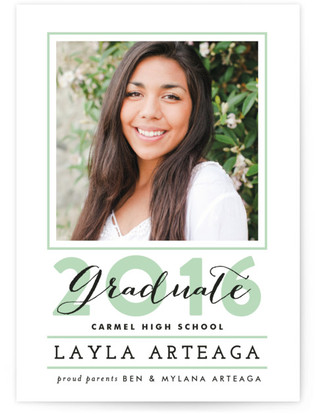 Outlined Graduate Graduation Announcements