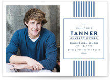 Classic Stripes Grad Graduation Announcements