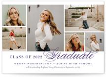 Photo Block Graduation Announcements
