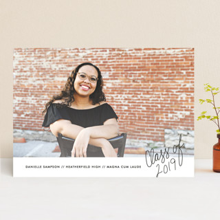 Handwritten Year Graduation Announcements
