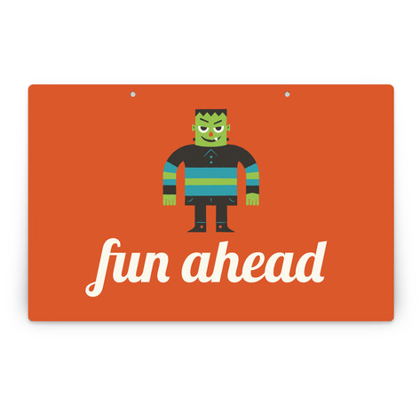 Monster Halloween Personalizable Party Greeting Signs