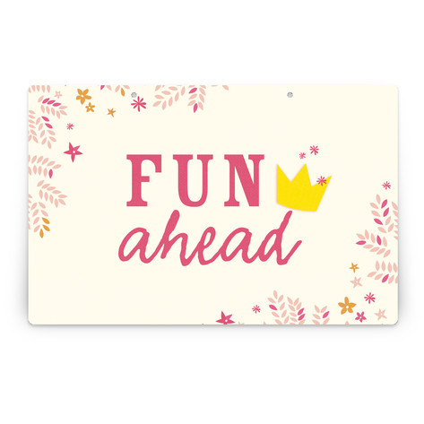 Princess Crown Personalizable Party Greeting Signs