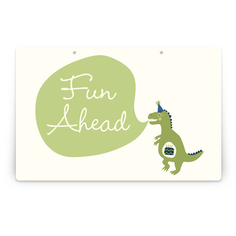 Cakeasaurus Dinosaur Personalizable Party Greeting Signs