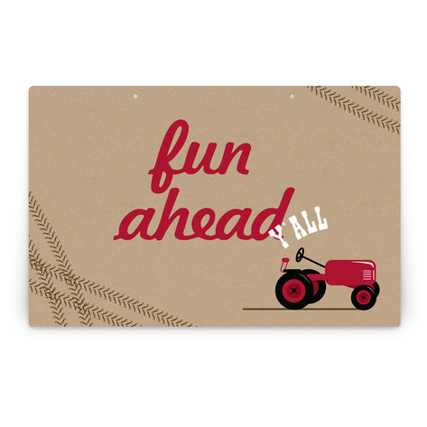 A Tractor Pull Personalizable Party Greeting Signs