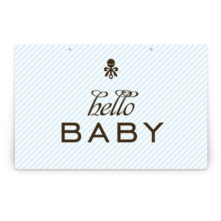 Petite Rattle Personalizable Party Greeting Signs