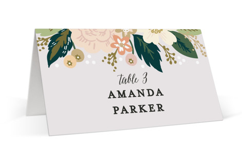 Classic Floral Place Cards