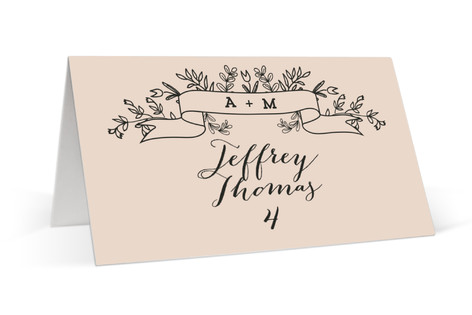 Wedding Bouquet Place Cards