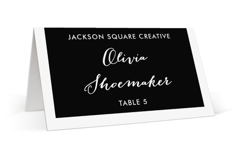 Tab Place Cards