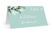 Midnight Floral Place Cards