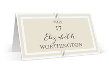 Three Classic Lines Place Cards