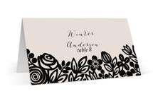 Modern Floral Frame Wedding Place Cards