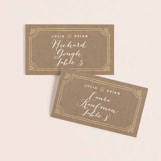 Hand Delivered Wedding Place Cards