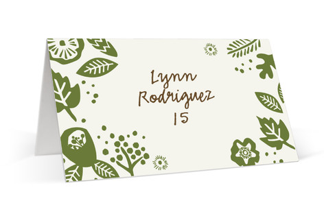Rustic Harvest Place Cards