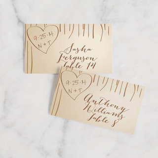 Fall Carving Wedding Place Cards