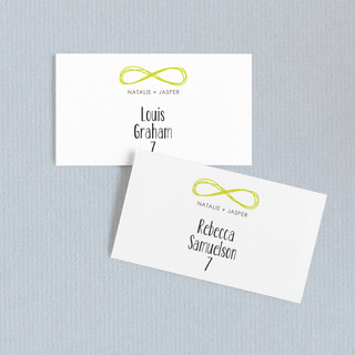 Infinite Wedding Place Cards