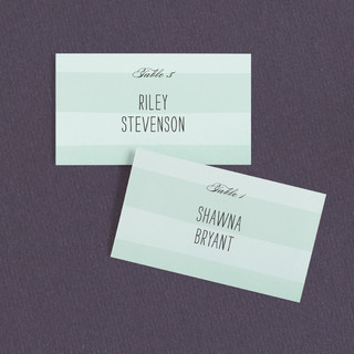 Alford Park Wedding Place Cards
