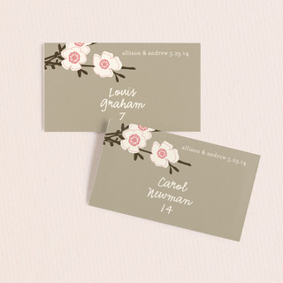 Apple Blossom Wedding Place Cards