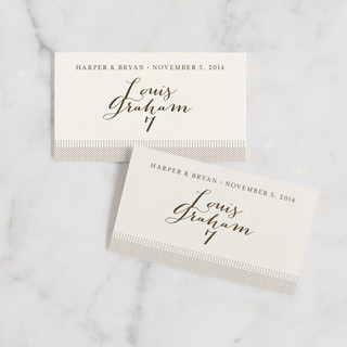 Modern Crest Wedding Place Cards