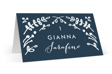 Floral Frame Square Place Cards