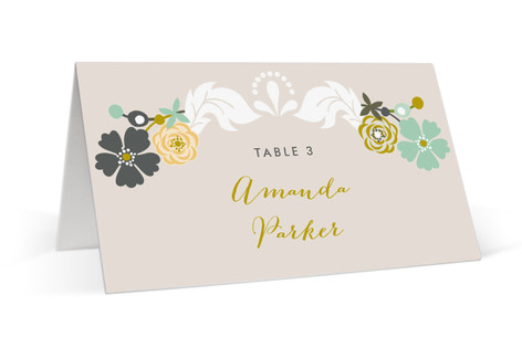 Floral Frame Place Cards