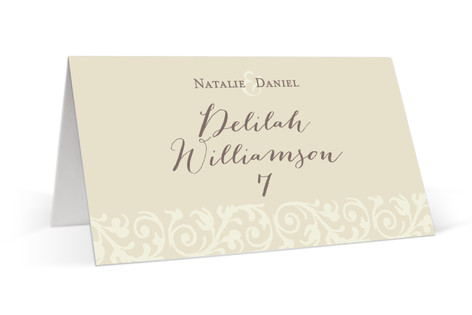 Elegant Flourish Place Cards