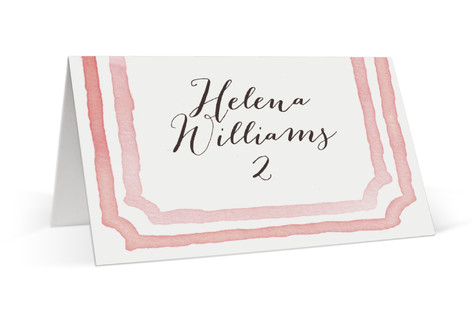 Watercolor Frame Place Cards