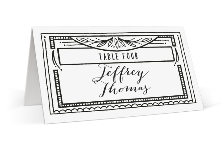 Ink Detailing Frame Place Cards