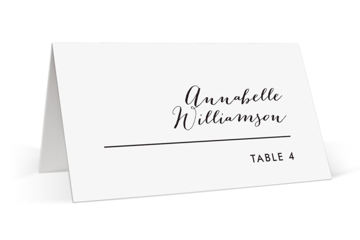 Slanted Place Cards