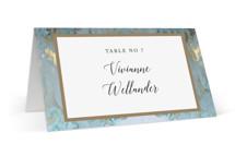 Something Blue Wedding Place Cards