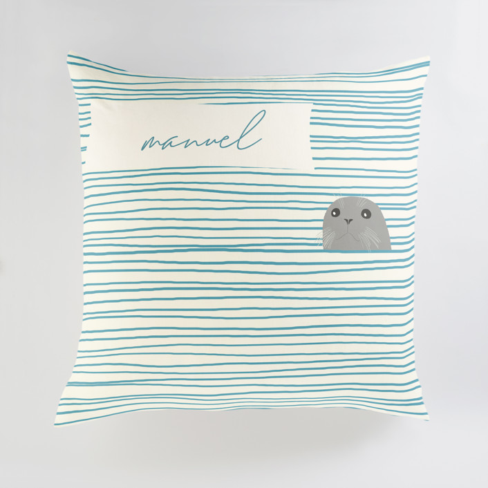Seal Personalized Floor Pillows