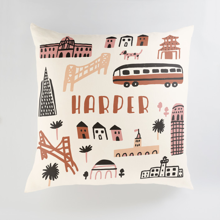 I Love San Francisco Personalized Floor Pillows