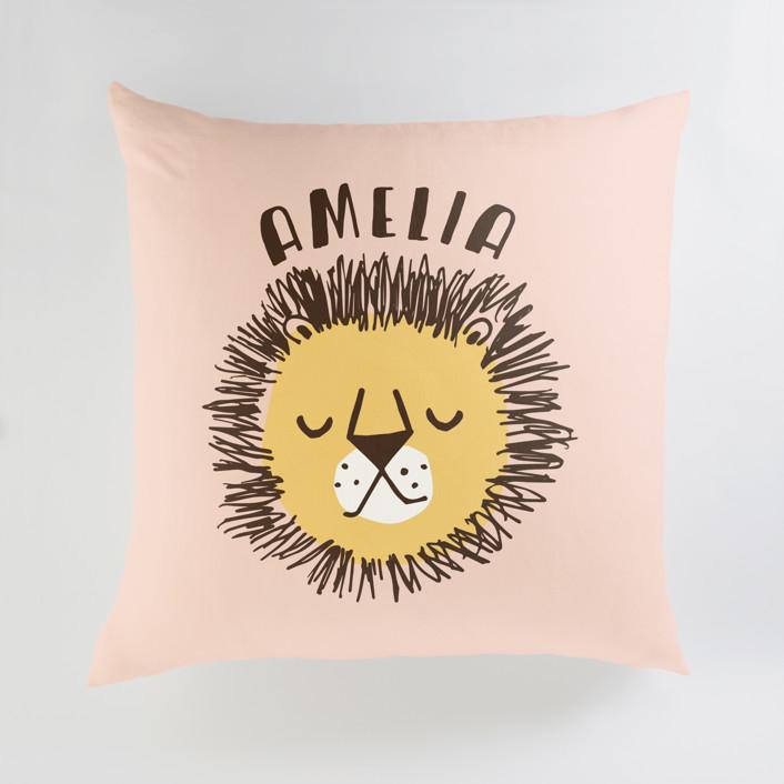 Safari Cats Personalized Floor Pillows