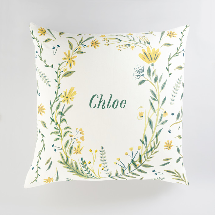 Cheerful Blessing Personalized Floor Pillows