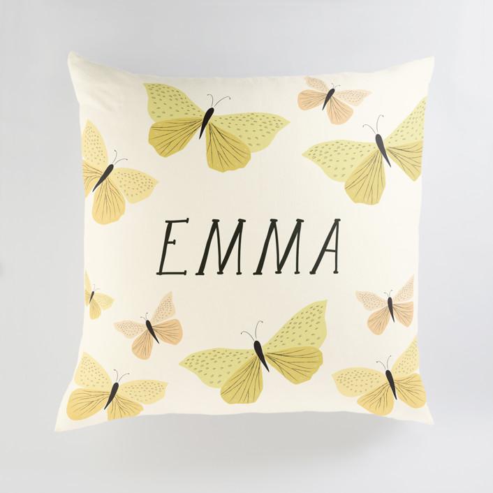Garden Butterflies Personalized Floor Pillows