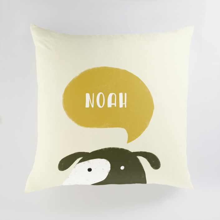 Woof Personalized Floor Pillows