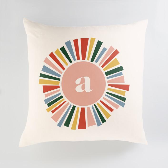 Rainbow Burst Personalized Floor Pillows