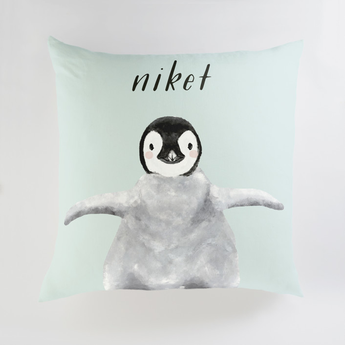 Baby Animal Penguin Personalized Floor Pillows